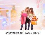 two happy young beautiful women ... | Shutterstock . vector #62834878