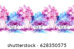 watercolor drawing   a bush ... | Shutterstock . vector #628350575