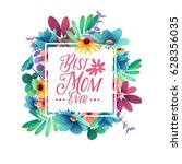 template design banner best mom ... | Shutterstock .eps vector #628356035