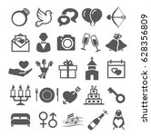wedding icons | Shutterstock . vector #628356809