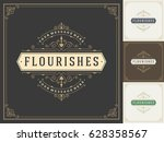royal logo design template... | Shutterstock .eps vector #628358567
