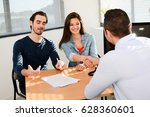 hand shaking and buying... | Shutterstock . vector #628360601