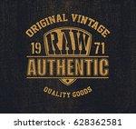 original vintage denim print... | Shutterstock .eps vector #628362581