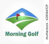 golf club or golf course logo... | Shutterstock .eps vector #628366529
