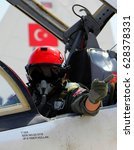 Small photo of Izmir, Turkey - April 17, 2013: Turkish Air Force trains its pilots, after four-year academic education at the Air Force Academy, the 2nd Main Jet Base Training Center Command located in Izmir.