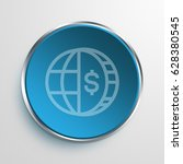blue sign globe business symbol ... | Shutterstock . vector #628380545