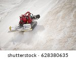 Snow Groomer Machine Working.