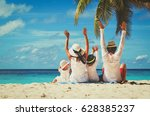 happy family with two kids... | Shutterstock . vector #628385237