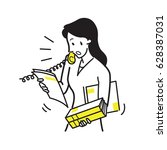 vector illustration of office... | Shutterstock .eps vector #628387031