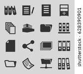 file icons set. set of 16 file... | Shutterstock .eps vector #628390901