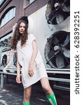 streetstyle  fashion. young... | Shutterstock . vector #628392251