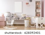 white and pink  pastel baby... | Shutterstock . vector #628392401