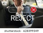 Small photo of Banned Declined Reject Deny Graphic