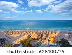 resort golden sands bulgaria... | Shutterstock . vector #628400729