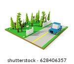 3d isometric landscape ... | Shutterstock . vector #628406357