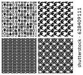 primitive decor texture blocks. ... | Shutterstock .eps vector #628409111