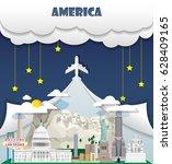 united state of america travel... | Shutterstock .eps vector #628409165
