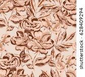 vintage floral seamless pattern | Shutterstock . vector #628409294