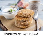 curd cheese pancakes ... | Shutterstock . vector #628413965
