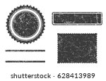 set of grunge stamps template... | Shutterstock . vector #628413989