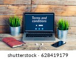 terms and conditions message in ...   Shutterstock . vector #628419179