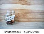 fixed deposit in business... | Shutterstock . vector #628429901