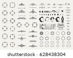 circle and square wicker... | Shutterstock .eps vector #628438304
