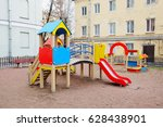 children's playground in the... | Shutterstock . vector #628438901