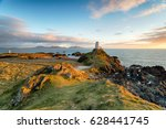 the lighthouse on the beautiful ... | Shutterstock . vector #628441745