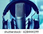 microphone in a recording studio | Shutterstock . vector #628444199