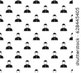 businessman avatar pattern... | Shutterstock .eps vector #628445405