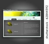 website design template.easy to ... | Shutterstock .eps vector #62844592