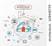 borrower info graphics design... | Shutterstock .eps vector #628448759