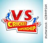 illustration of batsman and... | Shutterstock .eps vector #628449164