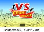 illustration of stadium of... | Shutterstock .eps vector #628449185