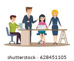 group of office workers. set of ... | Shutterstock .eps vector #628451105