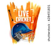 illustration of player helmet... | Shutterstock .eps vector #628451831