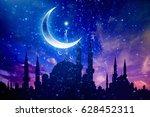 eid mubarak background with... | Shutterstock . vector #628452311