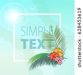 background with tropical plants | Shutterstock .eps vector #628453619
