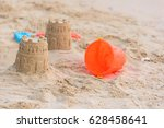 Castles Sand And Toy On Sand...