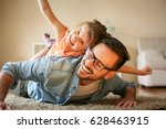 father and daughter spending... | Shutterstock . vector #628463915