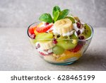 Fresh Fruit Salad With Yogurt...