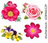 set of decorative garden... | Shutterstock .eps vector #628466129