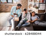 pensive young professionals... | Shutterstock . vector #628488044