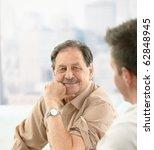 closeup portrait of older... | Shutterstock . vector #62848945