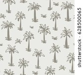 seamless tropical palm ... | Shutterstock .eps vector #628500065