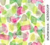 seamless watercolor pattern... | Shutterstock . vector #628500149