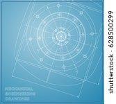 mechanical engineering drawings.... | Shutterstock .eps vector #628500299