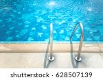 grab bars ladder in the blue... | Shutterstock . vector #628507139