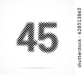 number forty five  45 in... | Shutterstock .eps vector #628513865
